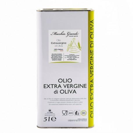 "4 Lattine da 5 lt di Olio EVO ""Ogliarola"""