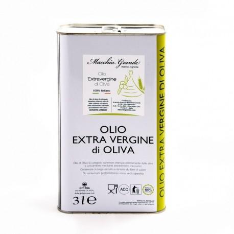 """Olio EVO """"Leccino"""" in  Lattina da 3 lt"""