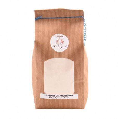 Miscela di farine artigianali ideale per pane e focaccia  Kg 1,5